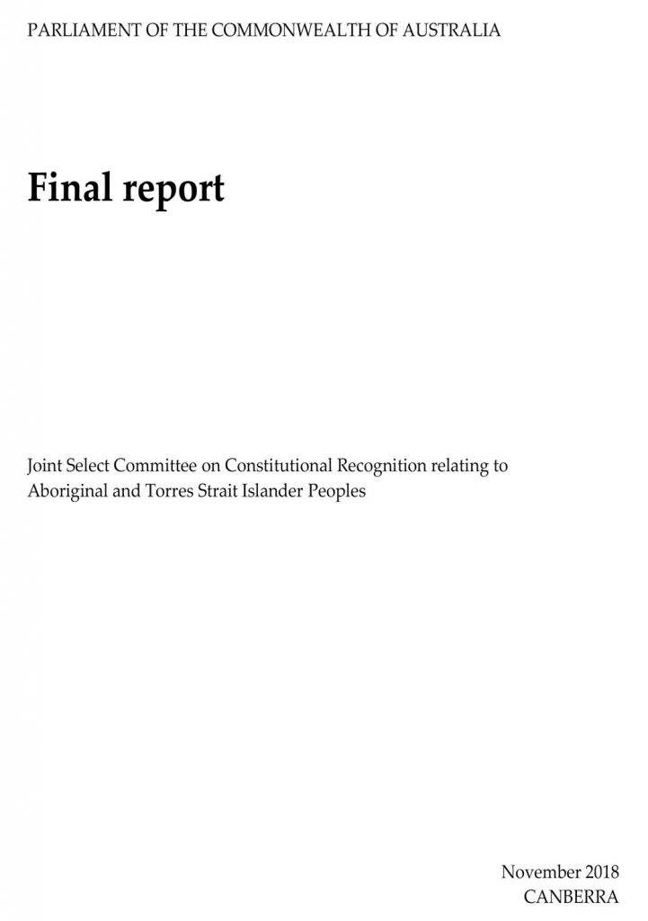 Parliament of the Commonwealth of Australia Final Report