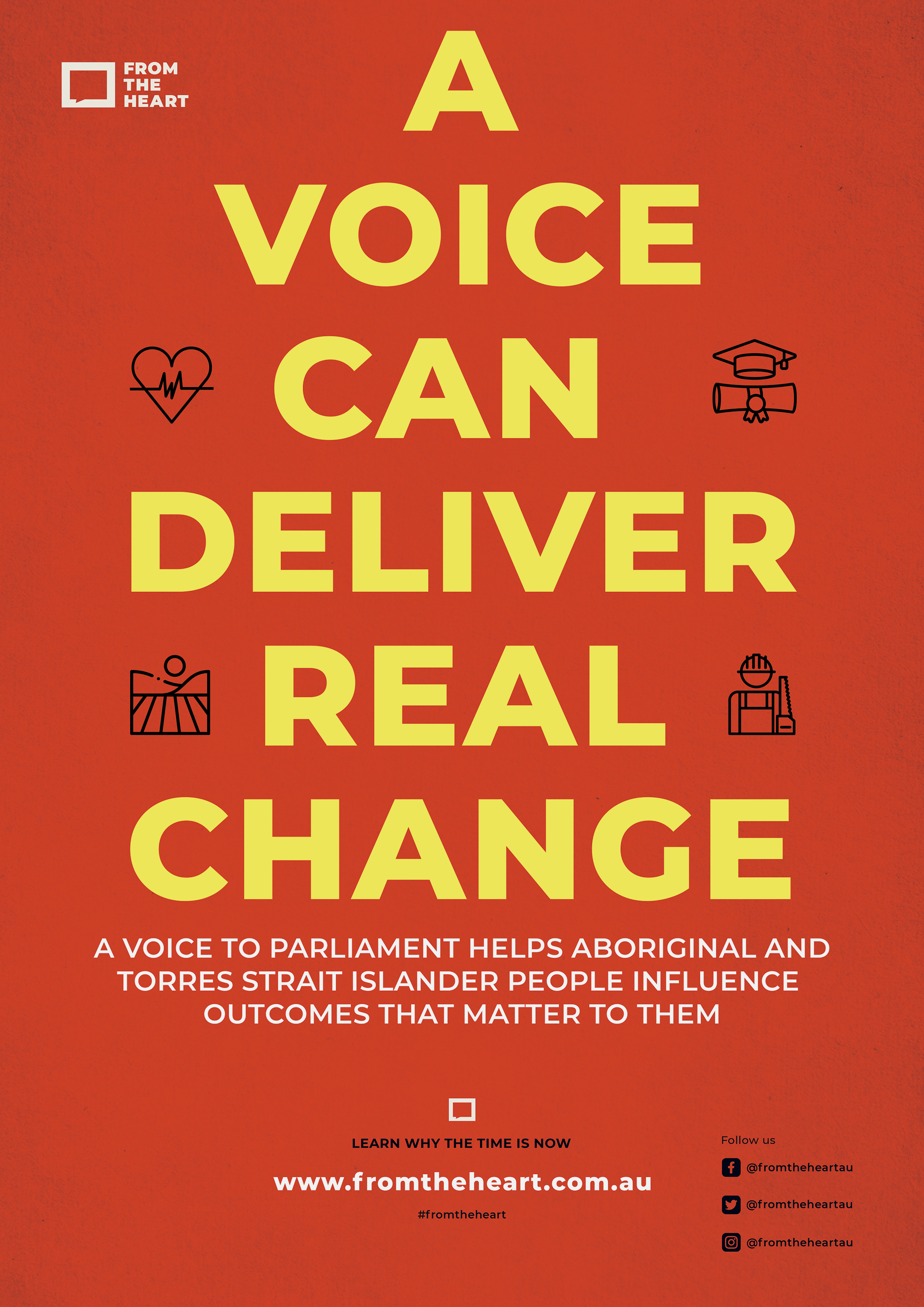 A Voice Can Deliver Real Change Downloadable Poster