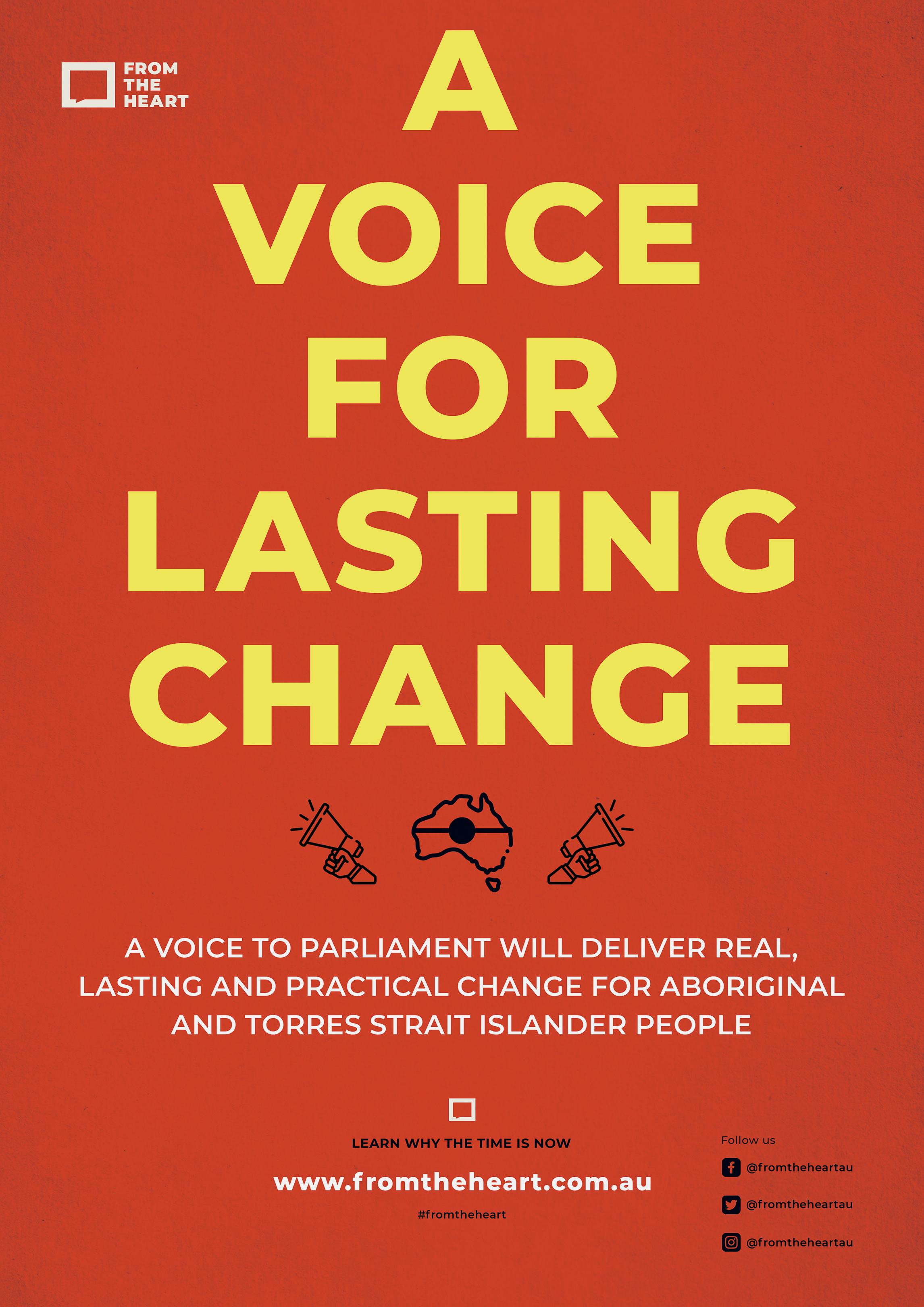 A Voice for Lasting Change Downloadable Poster