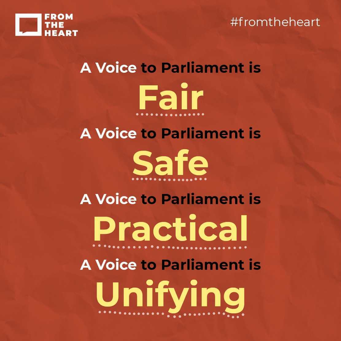 A Voice to Parliament is fair, safe, practical and unifying Instagram template