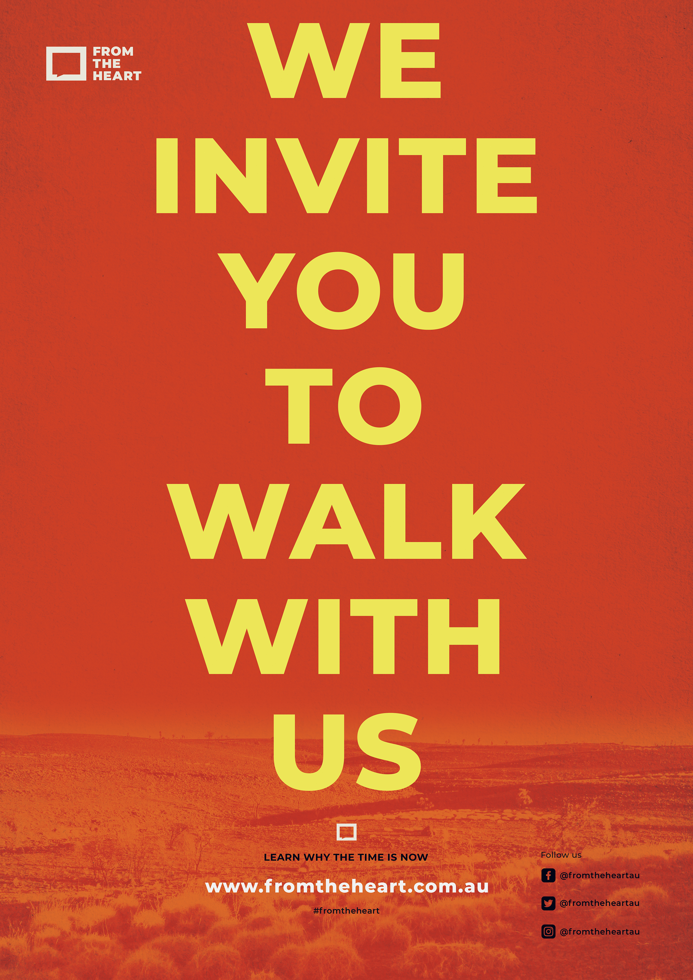 We Invite You To Walk With Us Poster