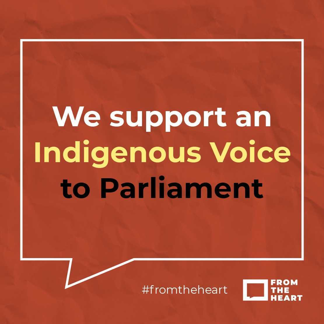 We support an Indigenous Voice to Parliament Instagram Template